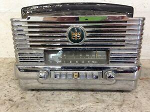 Vintage-1949-1950-Dodge-Plymouth-Deluxe-6v-Am-Radio-amp-Bezel-Mopar-Model-807