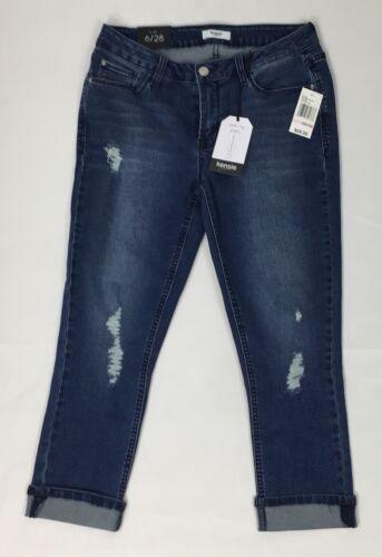 Crop 28 Femme Distressed Jeans Skinny Taille Kensie 6 CqxftwS