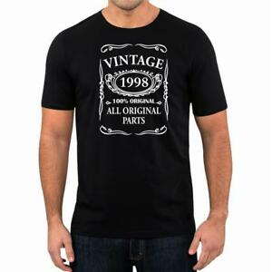 21st-Birthday-Present-Gift-Year-1998-All-Original-Parts-T-Shirt-Unisex-Fun-Tee