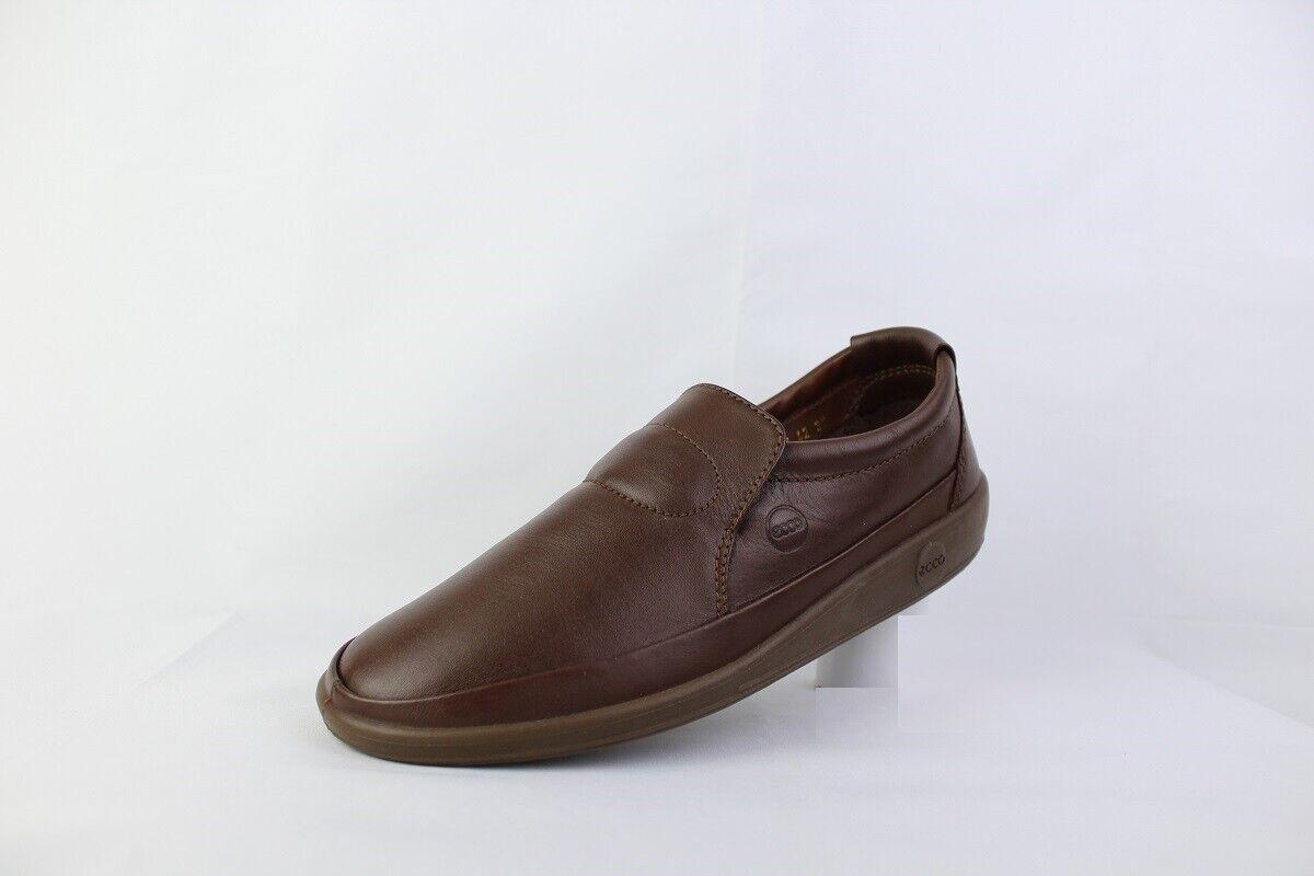 Ecco cuero masculino ocioso zapatos baratos 9544 tacones Castaños