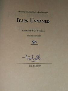Signed-Limited-first-edition-of-Fears-Unnamed-4-Novellas-by-Tim-Lebbon-Nice-Copy