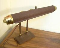 Art Deco Vintage Bullet Radionic Banker Piano Industrial Desk Lamp Brass Trim US