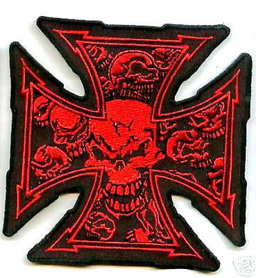 CAFÉ RACER ROCKERS FOREVER MALTESE IRON CROSS DEATH SKULL TOTENKOPF SKULL PATCH