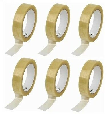 6x clear selotape packing tape 25mm x 66m Packing Tape Letters Parcel UK SELLER