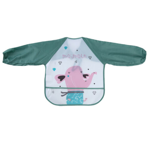 Baby Bibs Waterproof and Wipeable Eating Smock Feeding Apron 6-36 Months T