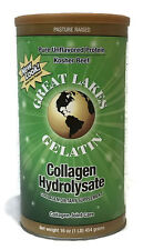 Great Lakes Beef Gelatin Collagen Hydrolysate 16 oz Green Pure Protein/Collagen