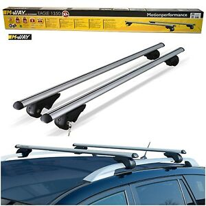 M-Way-135cm-90kg-Locking-Aluminium-Car-Raised-Roof-Rack-Rail-Bars-for-Volvo-XC70
