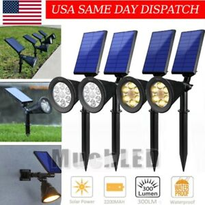 2-4pcs-6LED-Solar-Spotlight-Garden-Lamp-Lawn-Landscape-Light-IP45-Outdoor