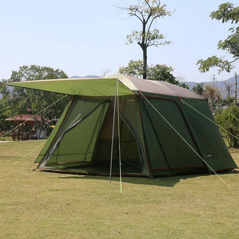 Tienda de campaña viaje tiendas de campaña 5-8 por capa de turistas para campamento Familiar al aire libre de gran tamaño