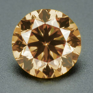 CERTIFIED-073-cts-Round-Cut-Champagne-Color-SI-Loose-Real-Natural-Diamond-3F