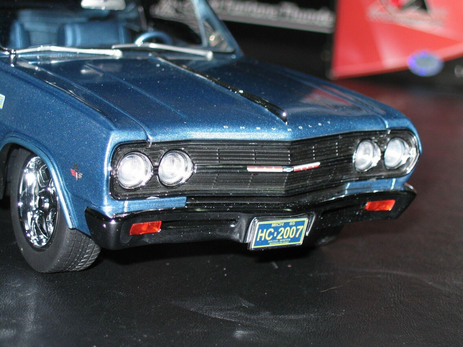 Venta en línea precio bajo descuento Lane Exact Detail Motor Estado Holiday Edition 1965 Malibu Ss Ss Ss 327 en escala 1 18.  100% precio garantizado