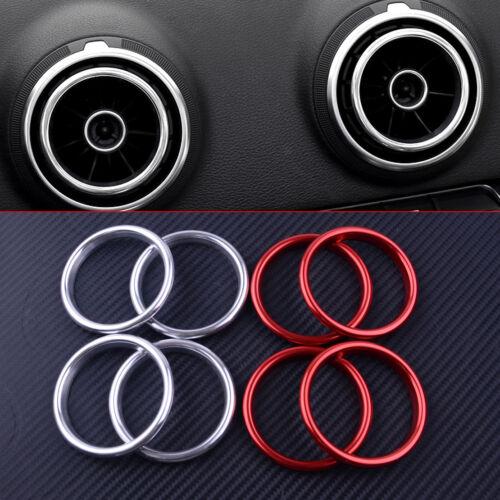 für Audi A3 8V Sportback Limousine Q2 Lüftungsdüsen Lüftungsgitter Zierringe Kit