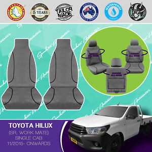 Admirable Details About For Toyota Hilux Single Cab 11 2015 On Canvas Waterproof Tailored Seat Covers Short Links Chair Design For Home Short Linksinfo