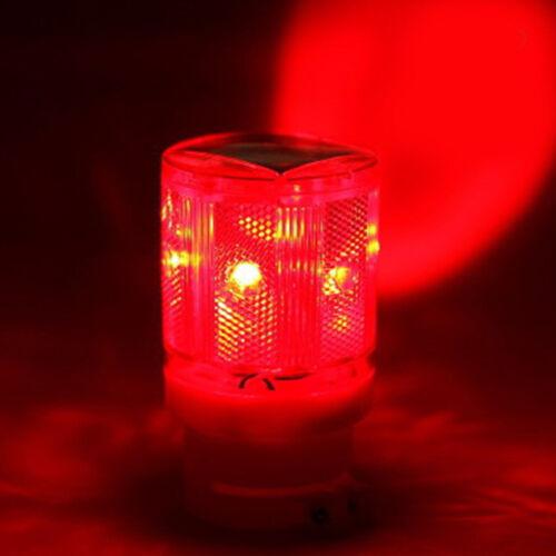 Waterproof LED Solar Strobe Warning Light Flashing Road Barricade Signal Lamp
