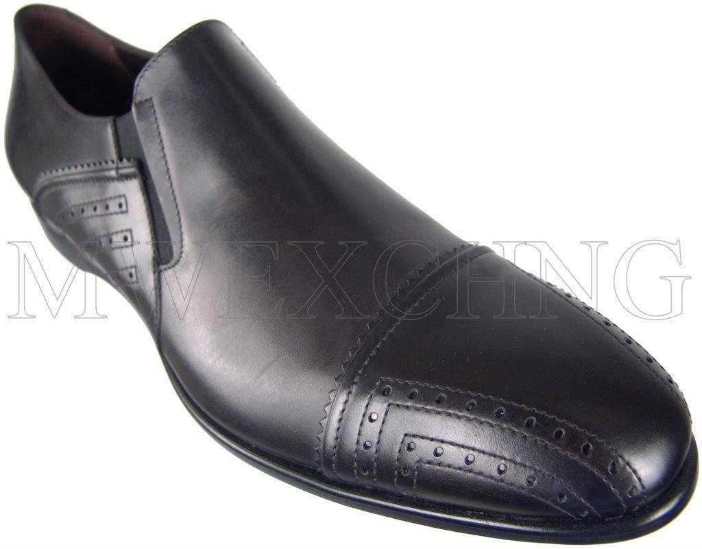 CESARE PACIOTTI FANCY nero LEATHER LOAFERS ITALIAN DESIGNER MENS scarpe US 12