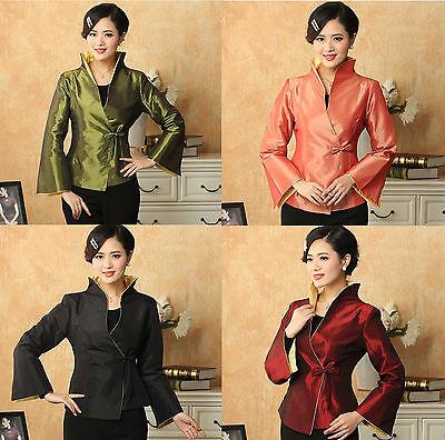 New Style Taffeta Women's jacket Coat Evening Dress Sz:M-L-XL-XXL-XXXL