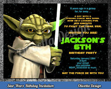 STAR WARS Yoda birthday invitation personalized YOU PRINT printable