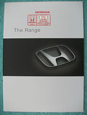 Honda brochure 2001 - NSX,S2000,Insight,Legend,Civic,Type-R,Type-V,Accord,HR-V..