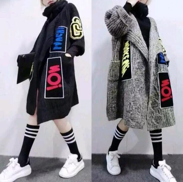 Women's Cardigan Kintting Loose Long Overcoats Warm Sweater Outwear Coats