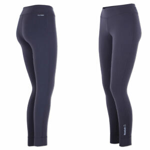 Reebok Damen Workout Fitted OS Nylux Tight Hose Laufhose Fitnesshose Running