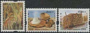 LAOS-N-1587-1589-Flore-riz-2005-Rice-Sc-1658-1660-MNH