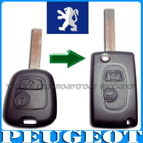 LLAVE CARCASA PEUGEOT 107 207 307 BOXER SW EXPERT MANDO FIJO A PLEGABLE