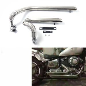 Exhaust Muffler Pipe System For Yamaha V star 650 XVS650 Dragstar 650 XVS400