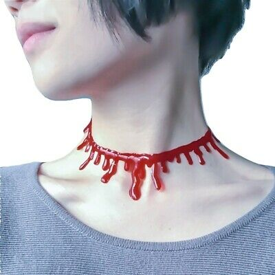 Punk Goth Leather Choker Necklace Circle O-Ring Harajuku Buckle Collar #46