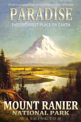 Paradise Washington Northern Pacific Railway Rainier Travel Poster Art Print 307