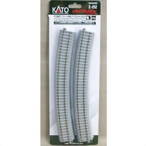 Kato-2-252-Rail-Courbe-Curve-Track-Concrete-Tie-Easment-R790-22-5-2pcs-HO