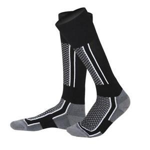 Mens Women Winter Thermal Long Ski Snow Walking Hiking Sports Towel Socks Black