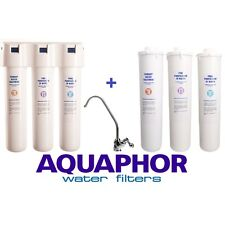 AQUAPHOR CRYSTAL Inline Drinking Water Filter, Set of Cartridges, Up to 2 Years