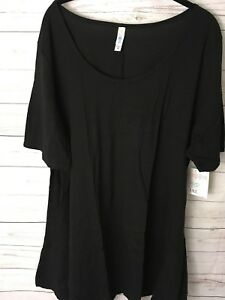 Image is loading LuLaRoe-SOLID-BLACK-Perfect-Tee-3XL-NWT 02ab85701bab