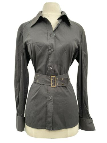 Gucci Women's Dress Shirt W/Lace Up Detail Black 4