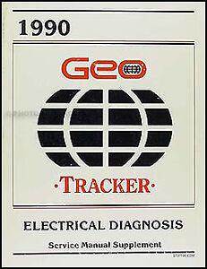 1990 geo tracker wiring diagrams electrical diagnosis service manual rh ebay com 1990 geo tracker fuel pump wiring diagram Geo Tracker 4x4