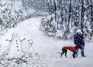 Limited edition signed /'Giclee/' print direct from Steve Sanderson Greyhound Art