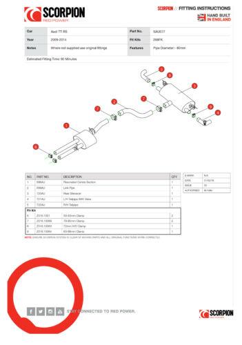 Auto & Motorrad: Teile Sport-Auspuffe Scorpion Audi TT RS MK2 ...