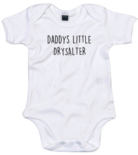 DRYSALTER BODY SUIT PERSONALISED DADDYS LITTLE BABY GROW GIFT