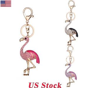 Cute-Flamingo-LED-Crystal-Charm-Pendant-Handbag-Keychain-Bag-Keyring-Key-Chain
