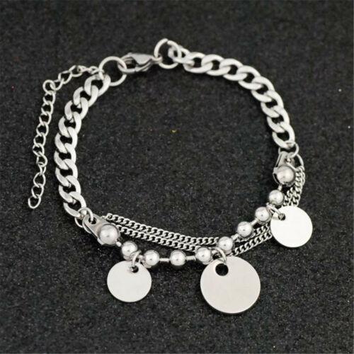 Mode Silber Herz Stern Palm Armband Frau Armreif Doppel Kette Schmuck Geschenke