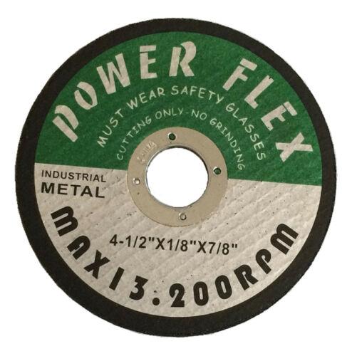 "Cut-off Wheel 4-1//2/"" X 1//8/"" X 7//8/"" POWER FLEX 100-PC"