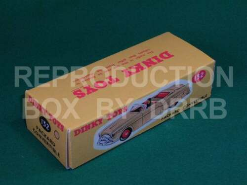 Reproduction Box by DRRB Dinky #132 Packard Convertible tan