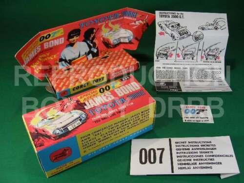 Corgi #336 James Bond Toyota-Caja de reproducción por drrb