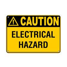 Horizontal Metal Sign Multiple Sizes Caution Electrical Hazard Labels