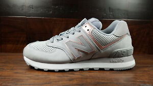 the latest c4cf1 8497e Details about New Balance Womens (WL574NBN) (Grey Arctic Sky / Champagne )  Nubuck Wmns 6.5-10
