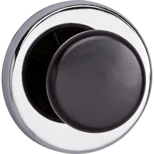 Maul Kraftmagnet Schwarz 1 mit Griffknopf Silber 67 mm x 33 mm rund Ø x H