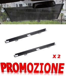 Tende Parasole Avvolgibili Per Auto.Dettagli Su 2x Coppia Tendine Parasole A Rullo Universale Per Auto Avvolgibili Kit Fissaggio