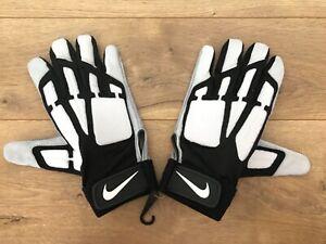 Nike-Speedtack-Lineman-Football-Gloves-White-Black-Grey-Mens-SZ-PGF387-102