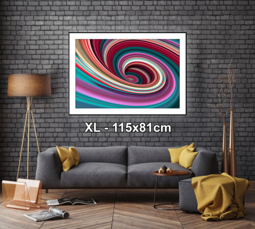 AB986 Colourful Cool Funky Modern Abstract Framed Wall Art Large Picture Prints
