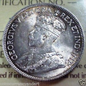 1918-Canada-25-Cents-ICCS-GRADED-Desirable-HIGH-GRADE-TONED-Silver-coin